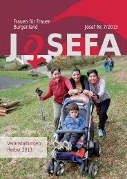 Frauen für Frauen Burgenland Josef Nr.7/2013 ... - Verein für Frauen