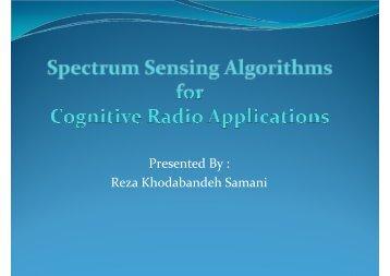 Presented By : Reza Khodabandeh Samani - M. Javad Omidi