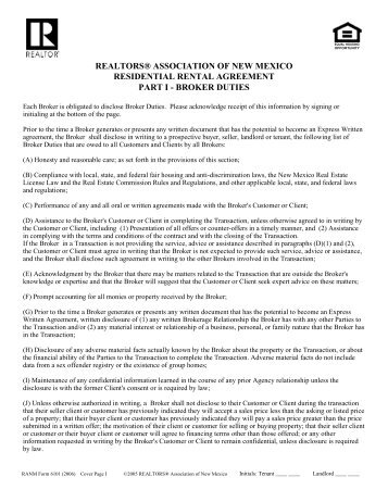 Residential Leaserental Agreement Form Madera County Library