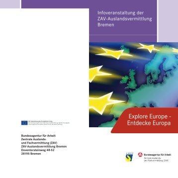 Explore Europe - Entdecke Europa - Europa in Bremen