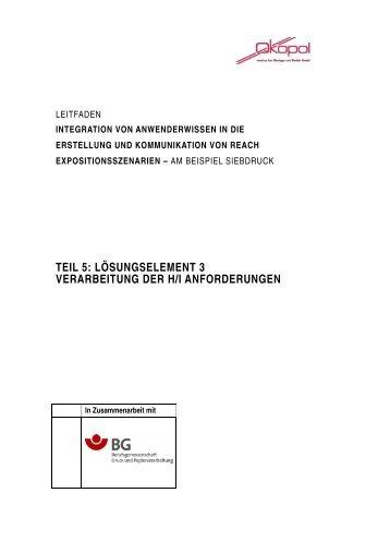 Leitfaden Teil 5 Umsetzung der Anforderungen - REACH Hamburg