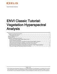 ENVI Classic Vegetation Hyperspectral Analysis - Exelis Visual ...