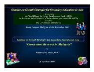 """Curriculum Renewal in Malaysia"" - Teo-Education.Com"