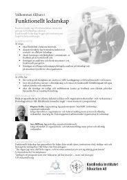 Funktionellt ledarskap - Karolinska Institutet