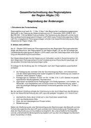 1. Änderungsbegründung - Regionaler Planungsverband Allgäu