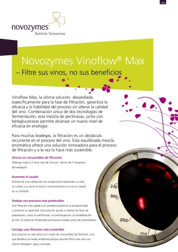 Novozymes Vinoflow® Max - VINICAS