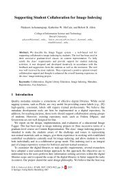 LNCS 4822 - Supporting Student Collaboration for Image Indexing