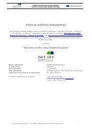Zadávací dokumentace vydaná v souladu s ... - České Švýcarsko