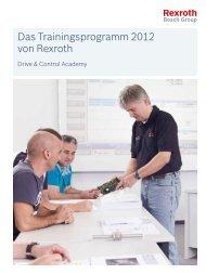 Das Trainingsprogramm 2012 von Rexroth - Bosch Rexroth