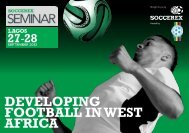 DEVELOPING FOOTBALL IN WEST AFRICA