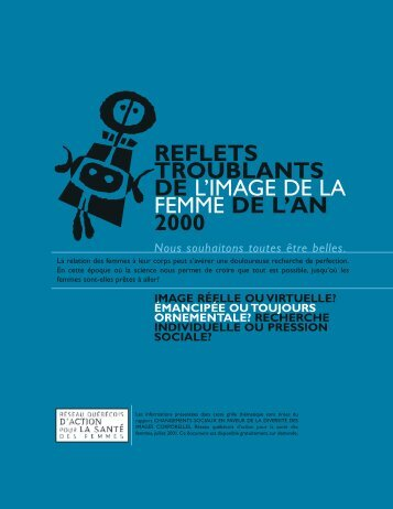 reflets troublants de l'image de la femme de l'an 2000 - Réseau ...