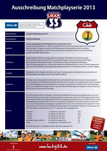 Ausschreibung Matchplayserie 2013 - J.plusline.de