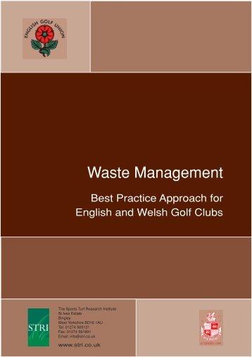 Waste management - England Golf