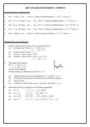 ADVANCED EXTENSION 1 TOPICS