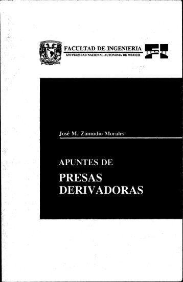 APUNTES DE PRESAS DERIVADORAS