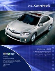 Camry Hybrid - Toyota Canada