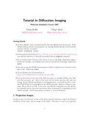 Tutorial in Diffraction Imaging - Structural Biology Labs