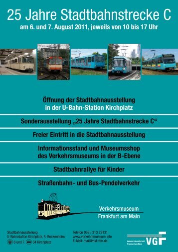 25 Jahre Stadtbahnstrecke C - HSF