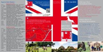 Flyer British Weekend 2013 - auf dem Rittergut Remeringhausen!
