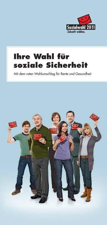 """Flyer """"Ihre Wahl für soziale Sicherheit"""" - Sozialwahl 2011"""