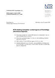 Delårsrapport 1. halvår 2009 - NTR Holding A/S