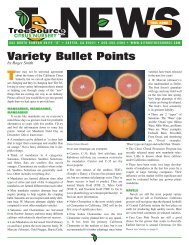 Variety Bullet Points (Fall 2002) - Citrus Trees