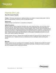 Hands-On Lab - Discovery Education