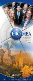 Placement Report - Eller MBA Programs - University of Arizona