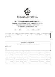 Profilo '' Esperto laureato in materie giuridico/economiche'