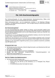 Pat. Info Knochenszintigraphie - Stadt Linz
