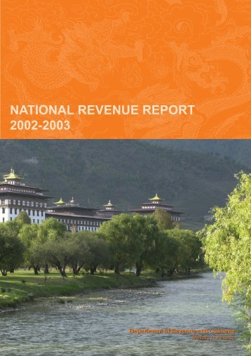 Revenue Report for (2002-2003) - Ministry of Finance