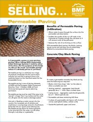 Permeable Paving - Parker Building Supplies