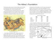 history of the Abbey - Cerne Abbas Historical Society