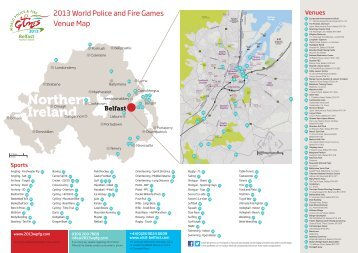 2013 World Police and Fire Games Venue Map