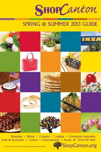 Spring-Summer 2013 Guide - ShopCanton.org