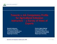 Towards a Job Competency Profile for Agricultural Extension ...