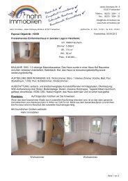 Freistehendes Einfamilienhaus in zenraler Lage ... - Hahn-Immobilien
