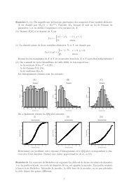 Exercice 1. (a) On rappelle que la fonction génératrice des ... - EPFL