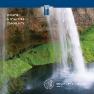 Discover a Powerful Community (.pdf) - University of Iceland