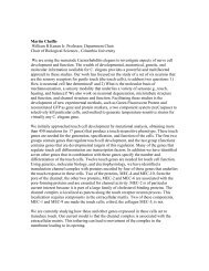 Martin Chalfie Biogr.. - Systems Neuroscience