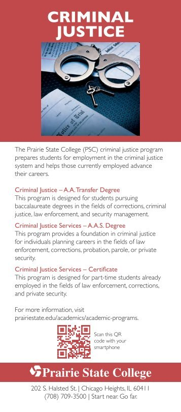 Criminal Justice Fact Card - Prairie State College