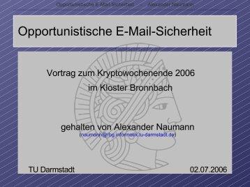 Opportunistische E-Mail-Sicherheit