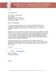 Appreciation letters - Stavros Niarchos Foundation