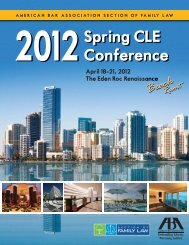 2012 Spring CLE Conference - Atlanta - Divorce Lawyer - Family ...