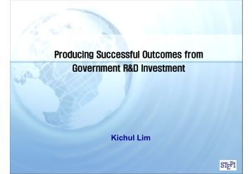Producing Successful Outcomes from Government R&D Investment