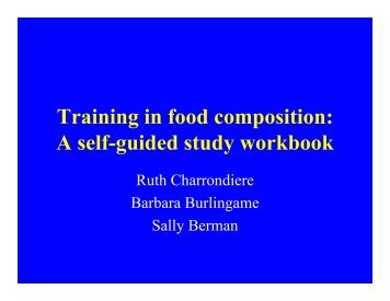 Training in food composition: A self-guided study workbook