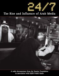 24/7: The Rise and Influence of Arab Media - The Stanley Foundation