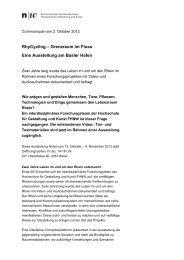 RhyCycling – Grenzraum im Fluss Eine Ausstellung am Basler Hafen