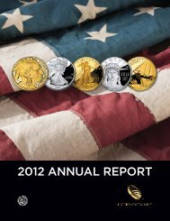 United States Mint's 2012 Annual Report - The United States Mint