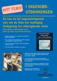 Tresemesterordning, opptak høst 2001. - Høgskolen i Bergen